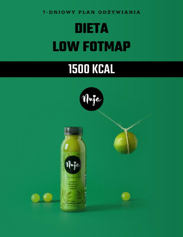 Ebook Jadłospis dieta low foodmap 1500 kcal