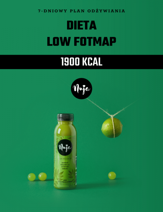 Ebook Jadłospis dieta low foodmap 1900 kcal
