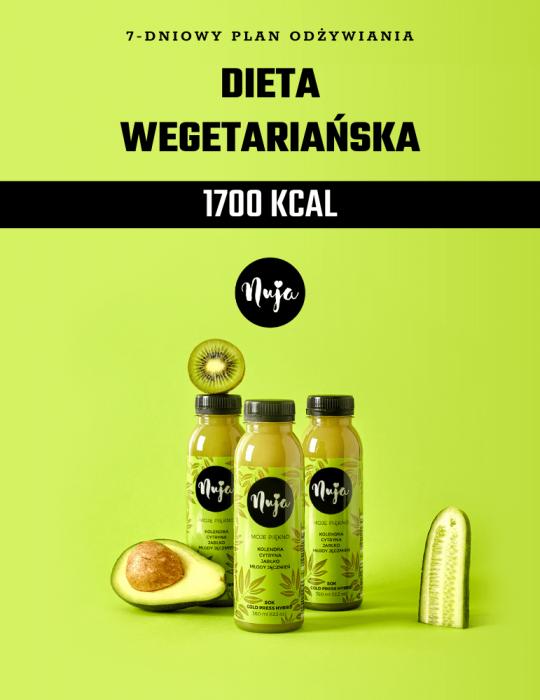 Ebook Jadłospis dieta wegetariańska 1700 kcal