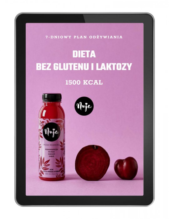 Jadłospis Dieta bez glutenu i laktozy - 1500 kcal