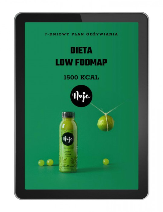 Ebook Jadłospis dieta low foodmap 1500 kcal