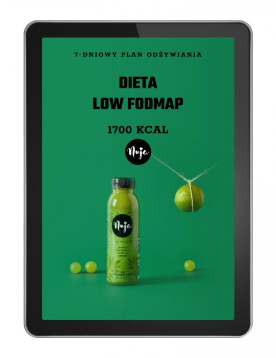 Ebook Jadłospis dieta low foodmap 1700 kcal