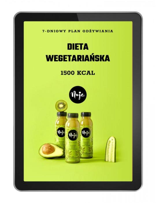 Ebook Jadłospis dieta wegetariańska 1500 kcal