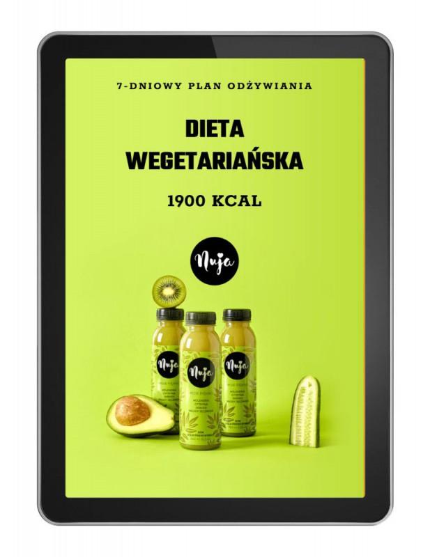 Ebook Jadłospis dieta wegetariańska 1900 kcal